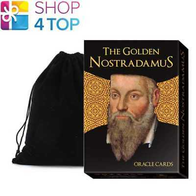 The Golden Nostradamus Oracle Cards Deck Esoteric Lo Scarabeo With Velvet Bag