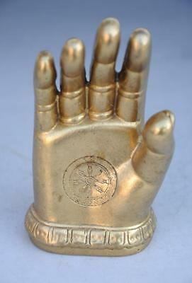 chinese old hand-carved fengshui copper Buddha hand statue d02