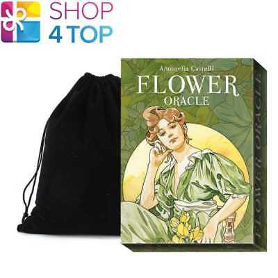 Flower Oracle Cards Deck Esoteric Telling Lo Scarabeo With Velvet Bag New