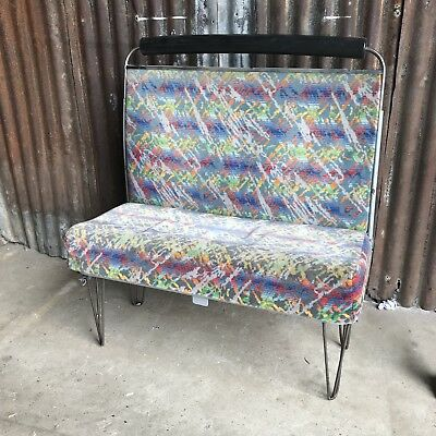 Retro Bus Bench Seating Restaurant Diner Chair Dining Cafe bar pub Hairpin  1