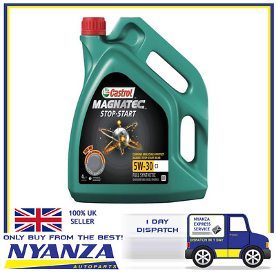 4L Engine Oil 4 Litres 5W30 C3 Fully Synthetic GM dexos2 Spec - Castrol Magnate