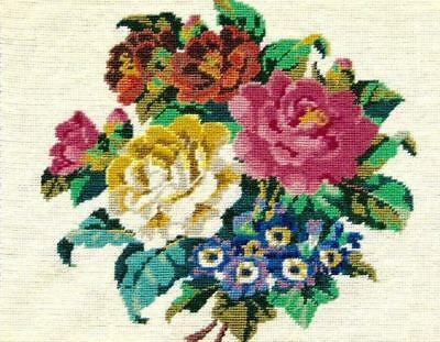 Rare Vintage Ehrman Bouquet Roses Tapestry Needlepoint Kit 1995 Retired Briggs
