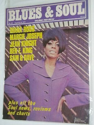 "BLUES & SOUL Music Magazine..(UK)..August 1971..No 65....DIANA ROSS..""Supremes"""