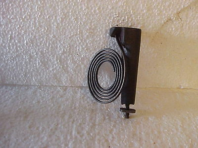 "Used 2 ¼"" 45 Degree Mount 5 Coil Clock Gong with 3 11/16"" Stand parts repair O"