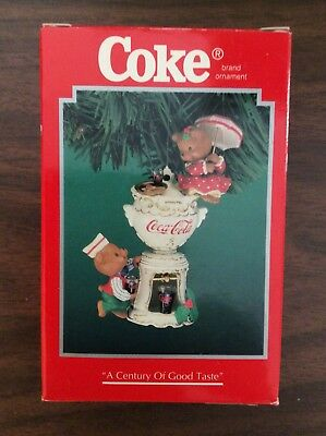 Enesco Coca-Cola A Century of Good Taste Ornament !!!!