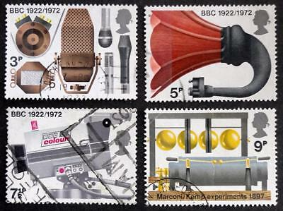 Great Britain 1972 'Broadcasting Anniversaries' SG909/912 Used Set