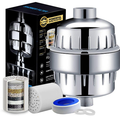 12-Stage High Output Showerhead Water Purifier Hard Water Shower Filter Chlorine
