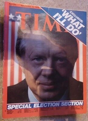 Rare 1976 TIME Magazine JIMMY CARTER, Election Special, What I'll Do, Nov 15