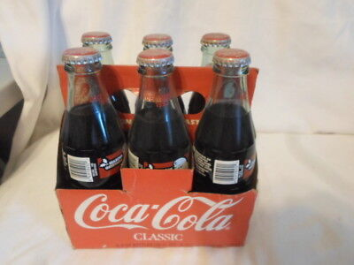 Collectible Coca-Cola Classic December 1993 6 Pack Empty 8 OZ Bottles & Carrier