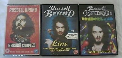 Russell Brand Dvd Collection Bundle Ponderland, Live & Sealed Messiah Complex
