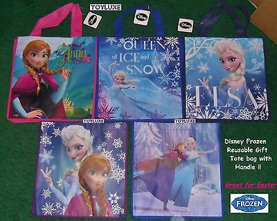 Disney FROZEN Elsa Tote REUSABLE Gift Bag CHRISTMAS Holiday Storage Travel Party