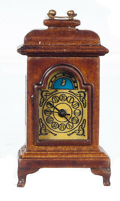 DOLLHOUSE MINIATURE Working 19th Century French Carriage Clock - Walnut Finish