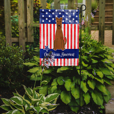 Carolines Treasures  BB3057GF Patriotic USA Irish Terrier Flag Garden Size