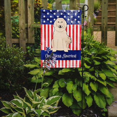 Carolines Treasures  BB3078GF Patriotic USA Great Pyrenese Flag Garden Size