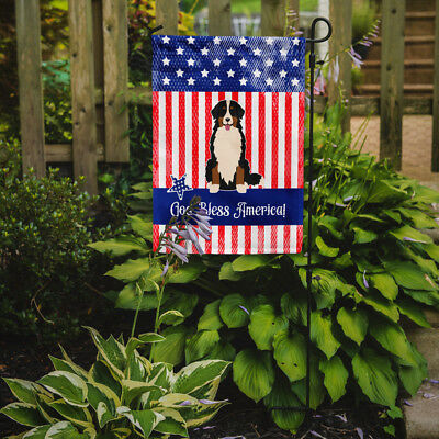 Patriotic USA Bernese Mountain Dog Flag Garden Size
