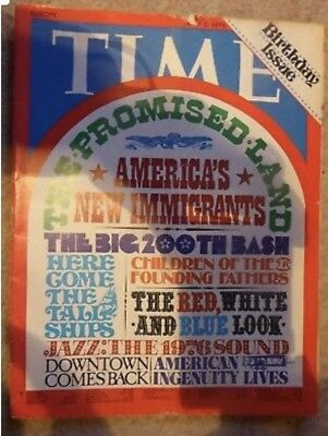 Rare 1976 TIME Magazine, BIRTHDAY ISSUE, America's New Immigrants, July 5th
