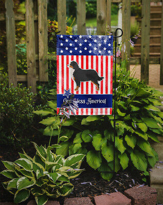 USA Patriotic Bernese Mountain Dog Flag Garden Size