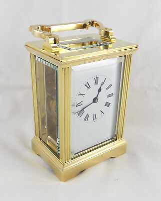 Vintage 8 Day Brass Carriage Clock - Anglaise Case - Fema ? - Cleaned & Serviced