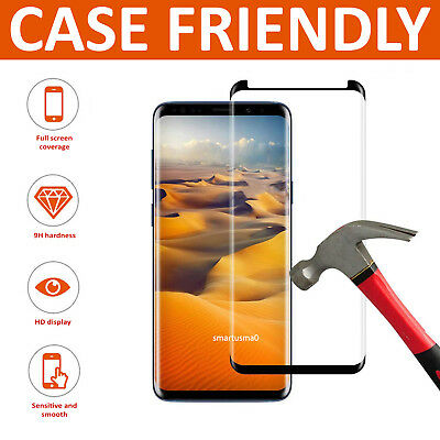 For Samsung Galaxy S8 Full Curved Tempered Glass LCD Screen Protector Clear
