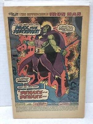 Iron Man 55 - Thanos First Appearance - Coverless - Nice Condition