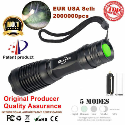 T6 8000LM LED Zoomable Tactical 18650 AAA Flashlight Flash Torch Lamp Light