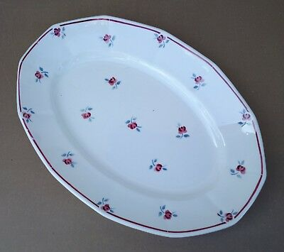 Plat ovale DIGOIN AMAZONE fleurs service vintage ancien déco table french dishes