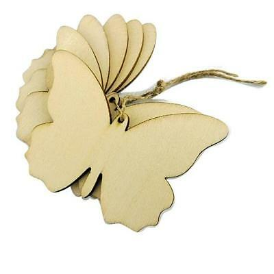 Buddly Crafts 70mm x 48mm Wooden Butterfly Tags - 6pcs W51