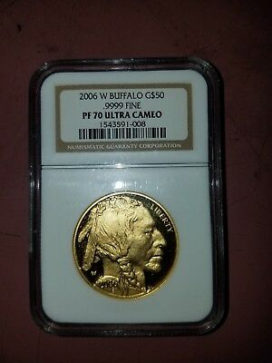 2006-W 1 oz Proof Gold Buffalo PF-70 NGC Ultra Cameo