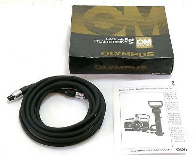 Olympus TTL Auto Cord T 2m for OM System boxed MINT-
