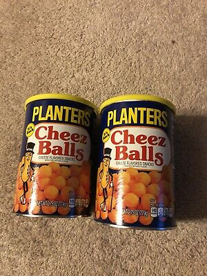 2018 PLANTERS (2) Cans CHEEZ BALLS Full In Can 2.75 OZ IN HAND READY TO SHIP