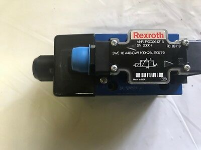 Rexroth Directional Spool Valve 3We 10A40/cw110Dk25L So779 Mnr R900961218