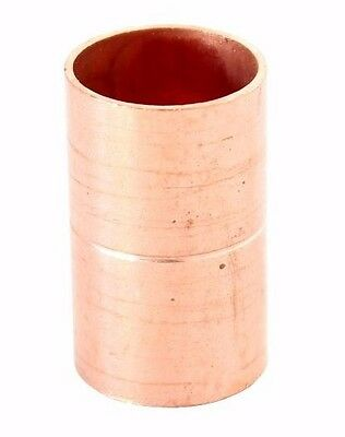 "1 1/2"" Coupling Rolled Stop C x C Sweat Ends - COPPER PIPE FITTING"