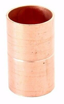 "1 1/4"" Coupling Rolled Stop C x C Sweat Ends - COPPER PIPE FITTING"