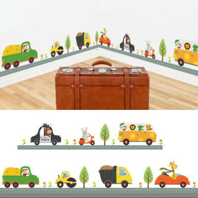 Animal Car Wall Stickers For Kids Children Bedroom Decals Home Decoration