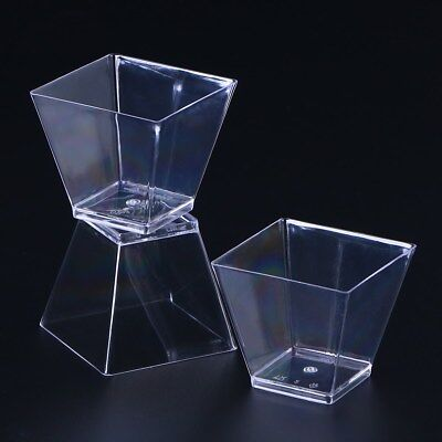 Pack of 50 PCS 60ml Disposable Food Grade Plastic Portion Cups for Dessert Jelly