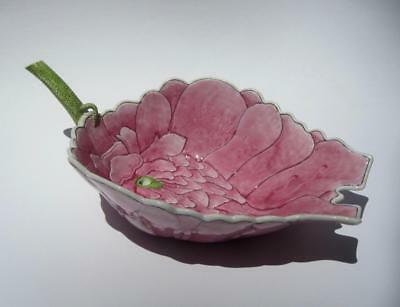 """Old Chinese Famille Rose Vintage Art Porcelain Lotus Flower Water Dropper Cup 8"""""""