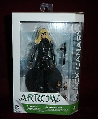 Dc Collectibles Arrow Cw Tv Series Black Canary Laurel Lance #11 + Figure Stand
