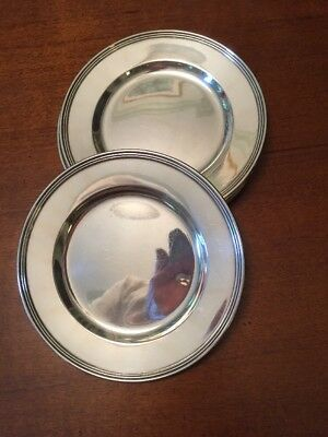 Lord Saybrook Bread Plates International Sterling Silver  6""