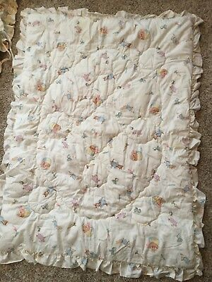 Vintage Peter Rabbit Friends Baby Nursery Quilt Uni 4 Pc Set