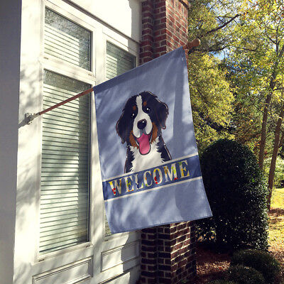 Bernese Mountain Dog Welcome Flag Canvas House Size