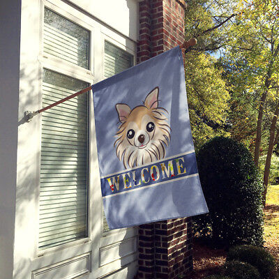 Carolines Treasures  BB1437CHF Chihuahua Welcome Flag Canvas House Size
