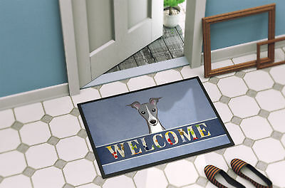 Italian Greyhound Welcome Indoor or Outdoor Mat 18x27