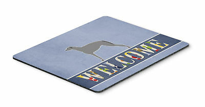Scottish Deerhound Welcome Mouse Pad, Hot Pad or Trivet