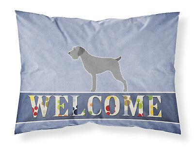 German Wirehaired Pointer Welcome Fabric Standard Pillowcase