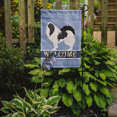 Carolines Treasures  BB5541GF Japanese Chin Welcome Flag Garden Size