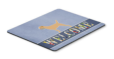 Border Terrier Welcome Mouse Pad, Hot Pad or Trivet