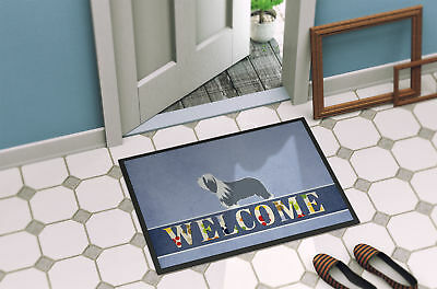 Bearded Collie Welcome Indoor or Outdoor Mat 24x36
