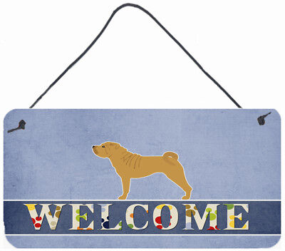 Shar Pei Merry Welcome Wall or Door Hanging Prints