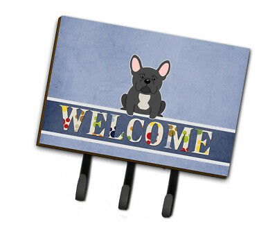 Multicolor Large Carolines Treasures BB5590SN French Bulldog Brindle Welcome Sticky Note Holder