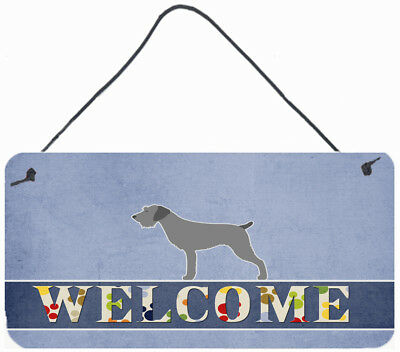 German Wirehaired Pointer Welcome Wall or Door Hanging Prints